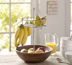 Unav Windsor Fruit Bowl With Banana Hooks Find This Pin And More On Kitchen Decor Items