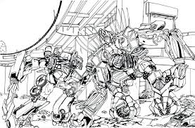 Transformers 3 Coloring Pages Bumblebee Prime