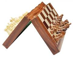 Classic Wood Folding Chess Board 3 In 1 Wooden Checker And Backgammon Set
