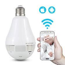 nexgadget 360皸panoramic led bulb network wireless baby indoor