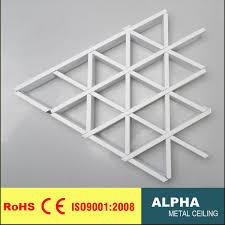 Hot Item Metal False Decoration Suspended Aluminum Triangle Cell Ceiling