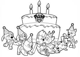 Click To See Printable Version Of Ryders Birthday Coloring Page