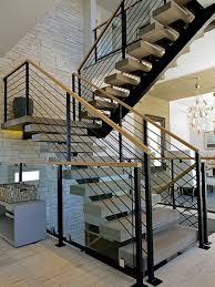 Best Fantastic Contemporary Stairs Railing #6035 Best 25 Modern Stair Railing Ideas On Pinterest Stair Contemporary Stairs Tigerwood Treads Plain Wrought Iron Work Shop Denver Stairs Railing Railings Interior Banister 18 Best Jurnyi Lpcs Images Banisters Decorations Indoor Kits Systems For Your Marvellous Staircase Wall Design Decor Tips Rails On 22 Innovative Ideas Home And Gardening