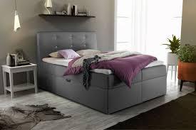 boxspringbett schlafzimmerbett monza kunstleder grau 120x200 cm