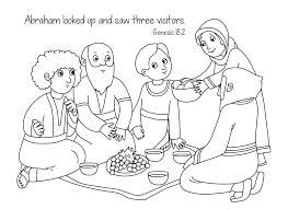Abraham And Sara Visitors Coloring Page