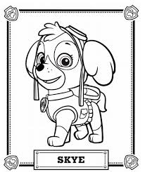 Paw Patrol Skye Coloring Pages Printable And Book To Print For Free Find More Online Kids Adults Of