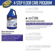 zep 128 oz stain resistant floor sealer case of 4 zufslr128
