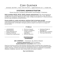 If You're A Senior-level Sys Admin, This Sample Resume For ...
