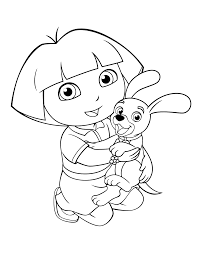 Dora Coloring Pages Backpack Diego Boots Swiper Print And Color