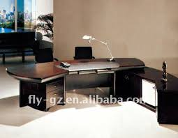 stylish executive computer desk top interior design plan with