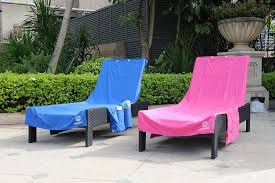 Terry Cloth Lounge Chair Covers With Pillow by Amazon Com Perfect Beach Or Pool Lounge Chair Towel Cover With