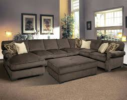 Brown Couch Living Room Design by Chaise Deep Leather Sectional Sofa Chaise Seat Kidney Shaped
