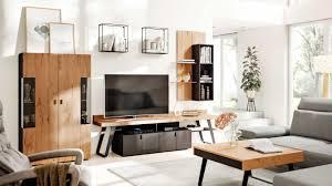 interliving wohnzimmer serie 2105 wohnwand in06 anthrazitfarbener lack balkeneiche anthrazitfarbenes metall vierteil