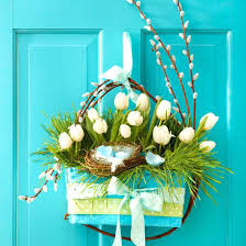 Easter Table Decoration Uk And Spring Door Decorations