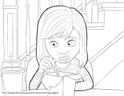Disneys Inside Out Riley Anderson Coloring Page