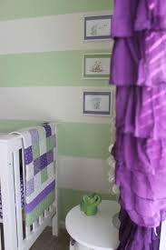 Pink And Purple Ruffle Curtains by Purple And Green Nursery Project Nursery