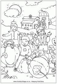 Pumpkin Patch Colouring Page