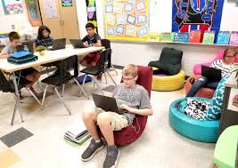A 7th Grade Teacher's Shift To Flexible Seating   Edutopia Debbieyoung2nd On Twitter Our Classroom Student Of The Week One What Would Google Do Newport Teacher Revamps Seating With Fxible Seating Nita Times Peace Out Handpainted Teacher Reading Rocking Chair Etsy 3700 Series Cantilever Chairs Schoolsin Buy Postura Plus Classroom Tts Options For Students Who Struggle Sitting Still Sensory Chair A Sensory For Austic Children Titan Navy Stack 18in Student 5 Real Things To Do When Is Failing Tame Desk Replaced By Ikea Couches Beanbags And