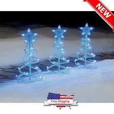 Outdoor Lighted Christmas Yard Decoration Spiral Tree