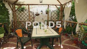 100 Modern Summer House The Interior Of A Modern Covered Summerhouse Footage 64079098