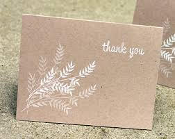 Kraft And White Thank You Cards Rustic Simple
