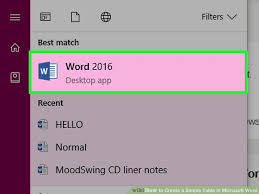 3 ways to create a simple table in microsoft word wikihow