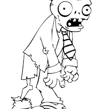 Zombie Printable Coloring Pages Free Zombies For Kids Online