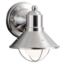 kichler 7 1 2 inch nautical outdoor wall light with led bulb