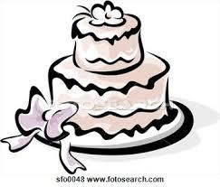 modern wedding cake clipart