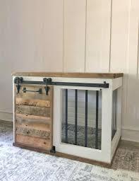 diy barn door crate hundebox selber bauen hundehaus