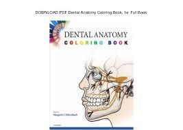 Dental Anatomy Coloring Book Htm Wonderfully Free Download