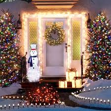 Porch With Christmas Lights