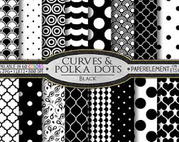 Black Polka Dot Digital Paper White And Printable Patterns Scrapbook