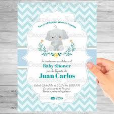 Invitación Digital Baby Shower Elefantito 5900 En Mercado Libre