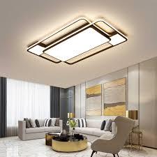skandinavische led metall deckenleuchte mit fernbedienung moderne schwarz dimmbar deckenle mit acryl lenschirmen für wohnzimmer schlafzimmer