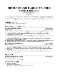 Teacher Resume Example Sample Language For Teaching Job In Cover Letter Template English Teachers Doc Amusing
