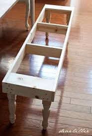 Dear Lillie Dining Room Bench Tutorial Or End Of The Bed