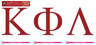 Kappa Phi Lambda Jumbo Letter Decals SororityShop