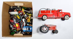 Lot 547: Metal And Plastic Toy Car And Truck Assortment; Including ... Majorette Metal And Plastic Nasa Toy Truck Trailer Virginia Power Bucket Truck Gmc Topkick Promo Type Plastic Toy American Toys Gigantic Fire Trucks Cars 1958 B Model Mack Tanker With Texaco Logo Special Day To Moments Dump Vintage Banner Toy Cstruction Truck Lot Of 3 Eur 4315 Reliable Plastics Canada Assorted Trucks From The 1950s Isolated On White Background Stock Photo Picture Free Images Antique Retro Red Vehicle Mood Model Car Old Orange Plastic For Kids Isolated On White Background Lot Of 5 Tonka Lil Chuck Friends Hasbro