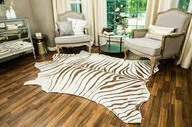 How To DIY Faux Zebra Rug Home & Family