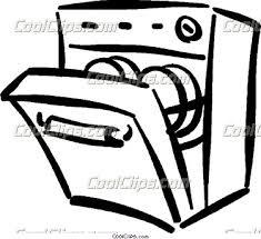 Dishwasher Clipart Black And White