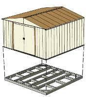 Arrow Newburgh 8x6 Storage Shed by Arrow Newburgh 8x6 Metal Shed Nw86 A Free Shipping