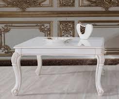 casa padrino barock couchtisch weiß beige 104 x 80 x h 45 cm massivholz wohnzimmertisch im barockstil barock wohnzimmer möbel