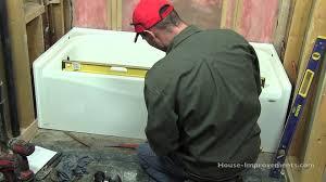 Americast Bathtub Home Depot by How To Install A Bath Tub Youtube