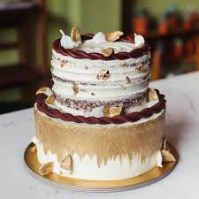 Two Tier Bohemian Rustic Cake