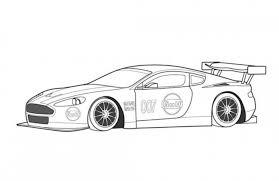 Aston Martin DBR9 Race Car Coloring Page