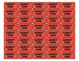 Free Printable Admit One Ticket Templates Blank Downloadable PDFs