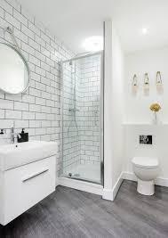 Grey Textured Marble Hex Tile Floor With Oval Mirror For Nice Bathroom Ideas
