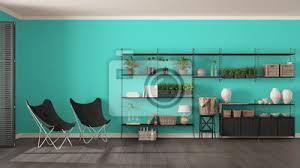fototapete eco grau und türkis interieur design mit holz bücherregal diy