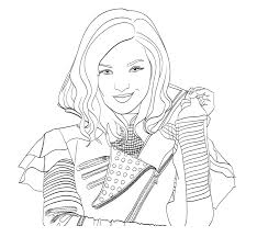 Descendants Coloring Pages Mal And Evie Elegant Beautiful 2 Coloringfun Of